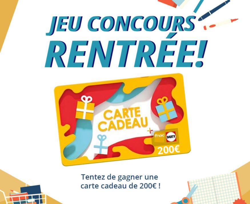 You are currently viewing Concours : carte cadeau de 200€ à gagner