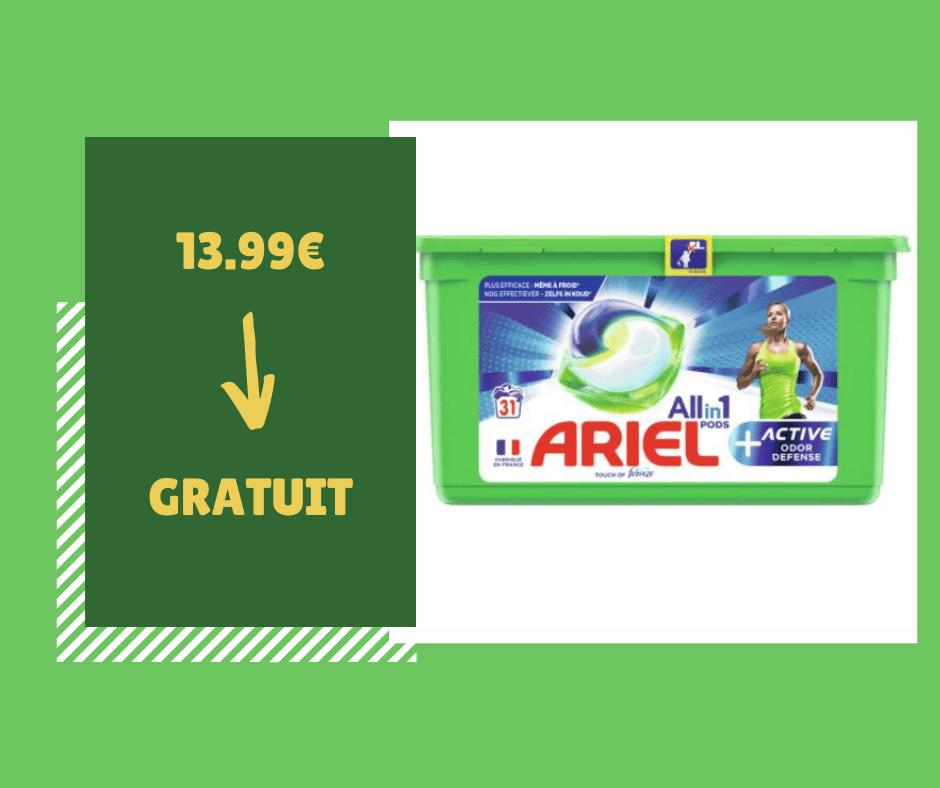 Read more about the article Gratuit : boite de 31 Ariel Pods+