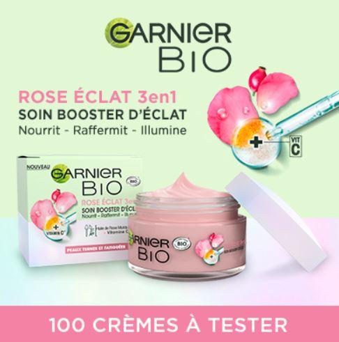 Test gratuit la crème rose éclat 3en1soin booster d'éclat