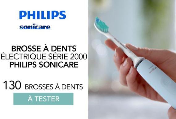 test gratuit Brosse à dents électrique 2100 Series de Philips