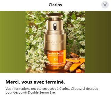 Echantillon gratuit double sérum Eye de Clarins