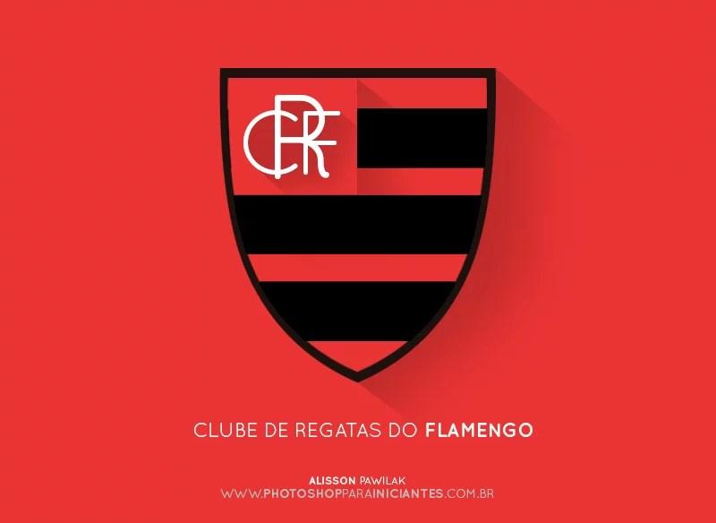 Flamengo - Escudo Minimalista