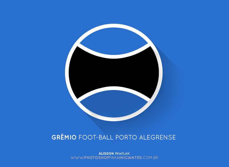 Grêmio - Escudo Minimalista