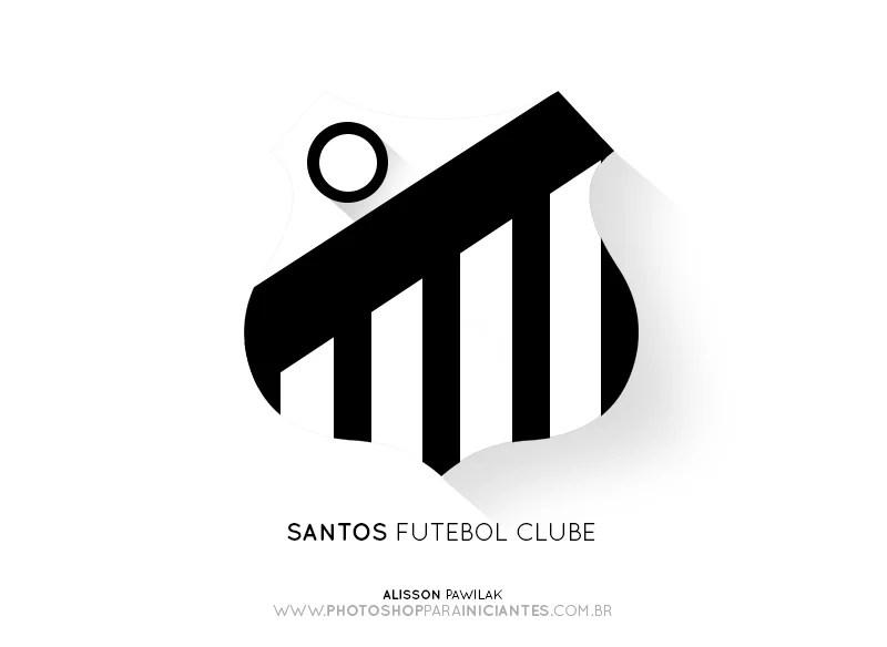 Santos - Escudo Minimalista