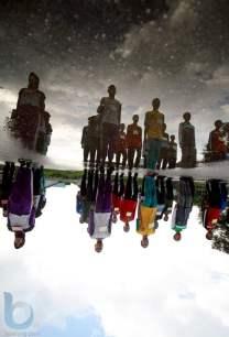 Berbaris rapi. (Fahmi Fajri/Bontang Post)