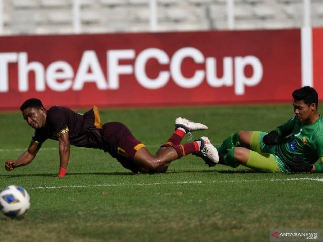 PSM ketika menjalani laga Piala AFC melawan Shan United. (Antara)