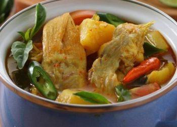 Ilustrasi ikan kakap kuah asam. (gingsul.com)