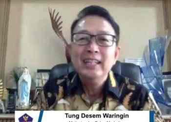 Motivator Tung Dasem Waringin sembuh dari Covid-19. (BNPB)