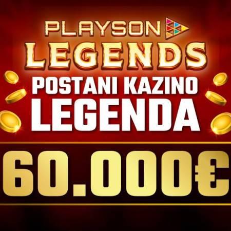 Turnir sa čarobnim poklon fondom – Playson Legends u Meridianu!