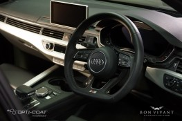 After - All alcantara, fabric and leather surfaces treated with Gtechniq