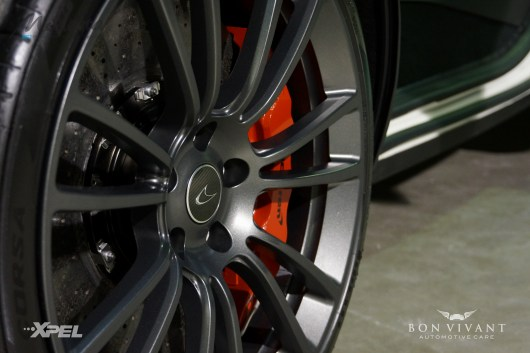 Wheels were cleaned, decontaminated and coated with Modesta BC-05