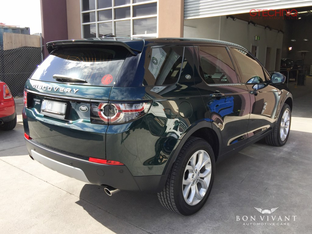 Bon Vivant Paint Protection Coating | Gtechniq C1 | Gtechniq I1 Smart Fabric & L1 Smart Fabric Protection | Window Tinting | Land Rover Discovery Sport