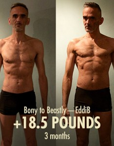 Here    great example of bulking at very lean body fat percentage eddib is only just halfway through the program now and he still going strong also bony to beastly ectomorph guide rh bonytobeastly