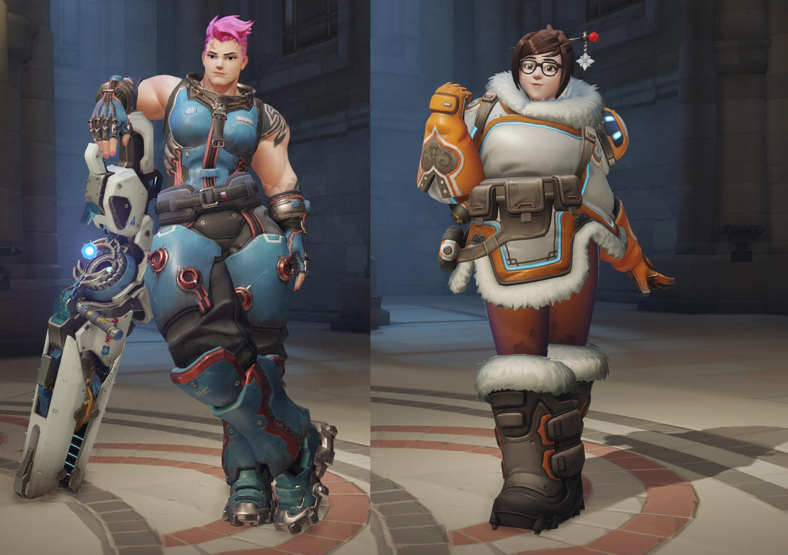 Thin Ectomorphs Given Makeovers to Look Like Average Endomorphs (Zarya and Mei)
