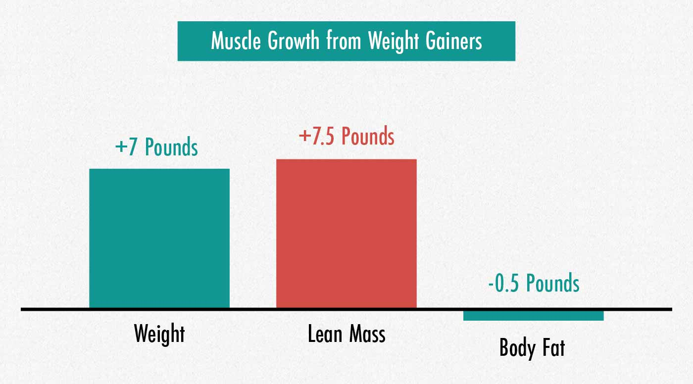 Results of a study looking at weight gainer supplements for muscle growth.