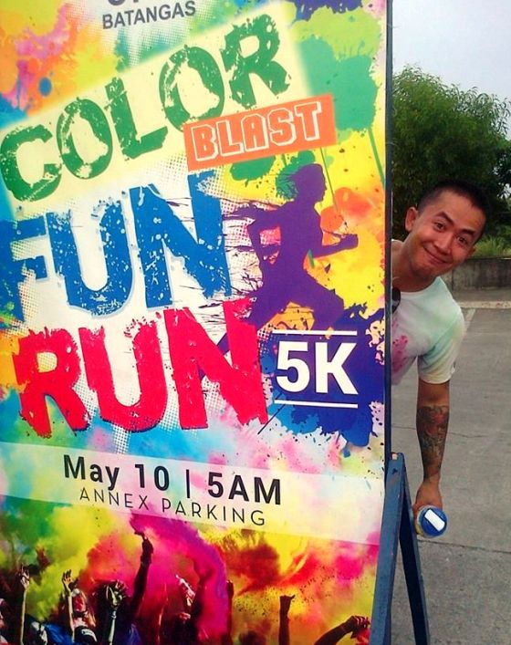 First Color Fun Run with the husband. <3
