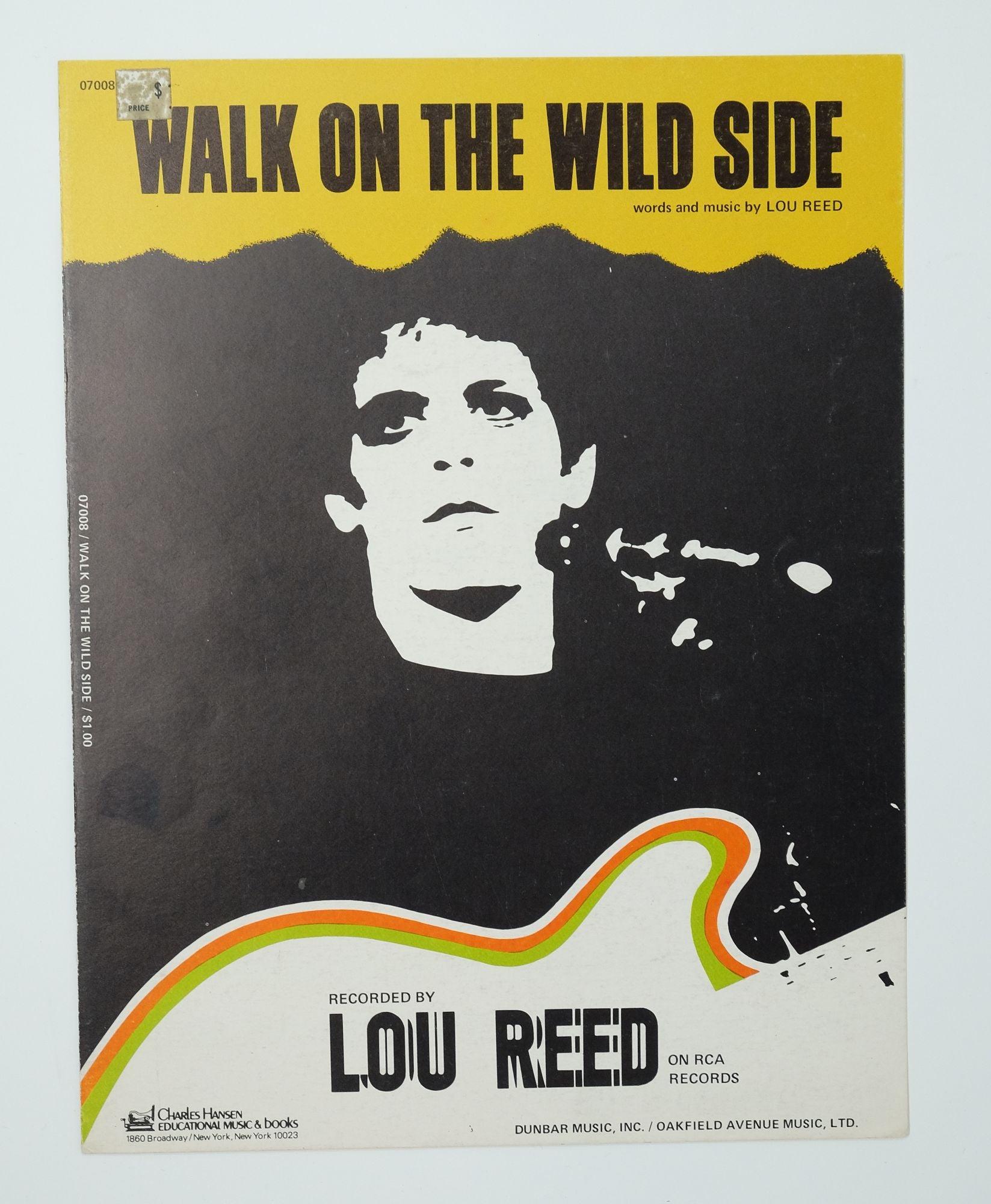 """Walk On The Wild Side : """"Walk, Side"""", Sheet, Music"""