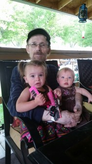papa got the girls