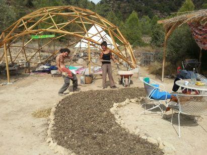 Día 3 - poniendo estiércol y acolchado para empezar el nuevo jardín // day 3 putting down manure and mulch to start off the new garden