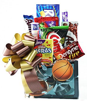 sports lovers snack basket