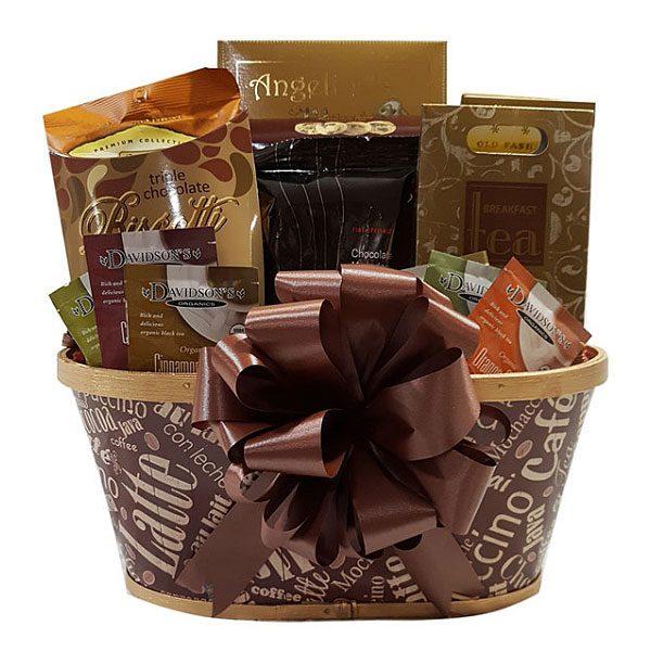 coffee tea and cookies Gift Basket
