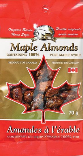 Canada True Maple Almonds 70g