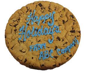 Happy Holidays Giant Cookie-Customizable