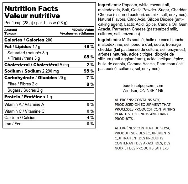 parmesan-garlic-nutritional