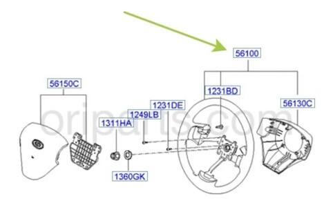 WHEEL ASSY-STEERING: Hyundai / Kia 561100P100AR