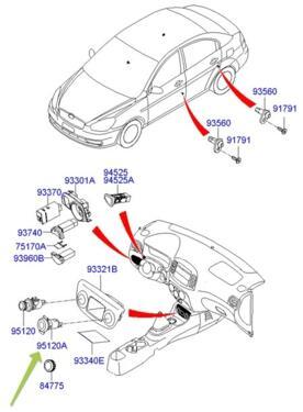 SOCKET ASSY-ACCESSORY, INT;AR: Hyundai / Kia 951201G100OR