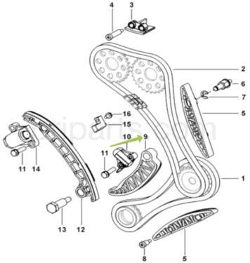 PRIMARY TENSIONER GUIDE: MAHINDRA 0310EM0051N