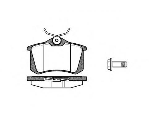 BRAKE PAD SET, DISC BRAKE: VW / AUDI / SKODA / SEAT / VAG