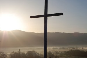 Easter sunrise cross