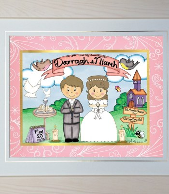 Twins Communion Personalised Framed Gift