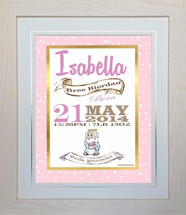 New baby gift name a frame negle Images