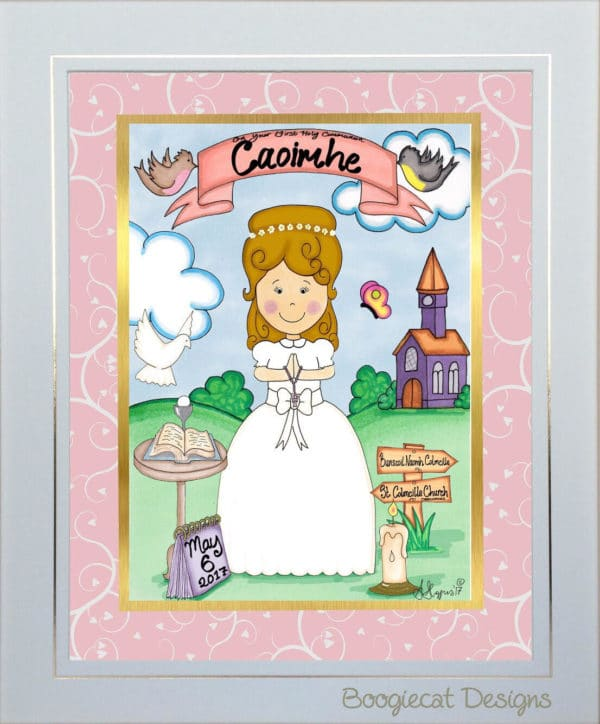 communion gift for a girl unframed