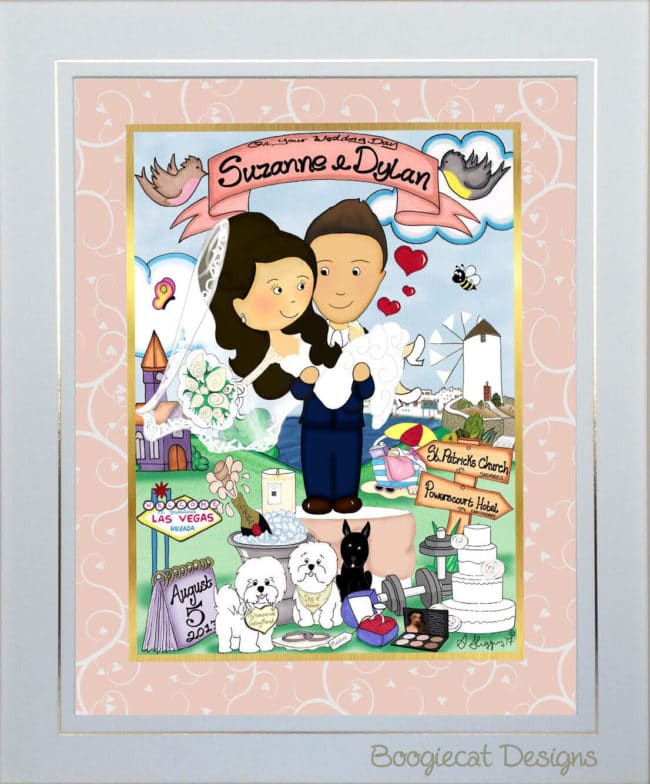 mr and mrs wedding gift – unframed
