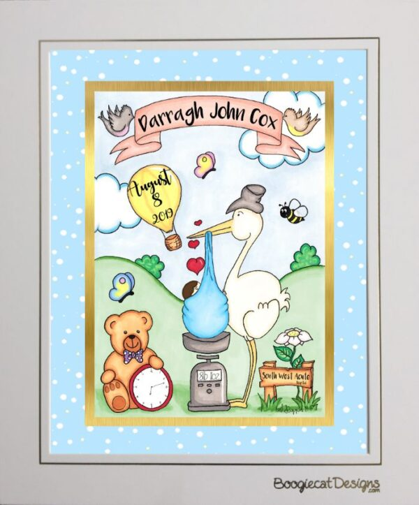 personalized baby gift toon