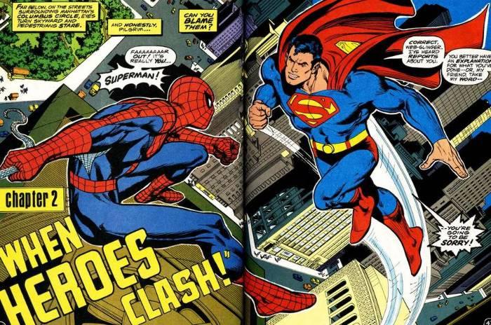 Exemple de splash-page pour le lexique des comics