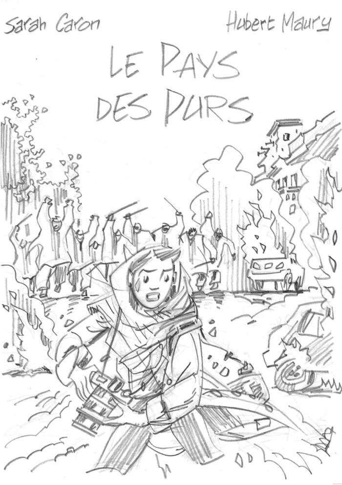 Croquis de la bande dessinée Le Pays des Purs