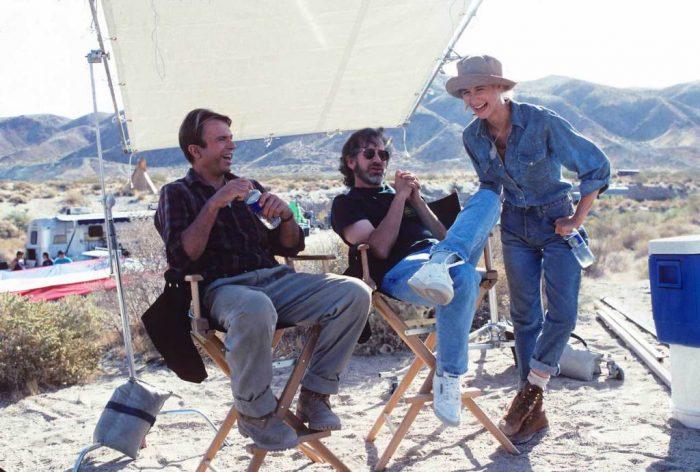 Steven Spielberg sur le plateau de Jurassic Park