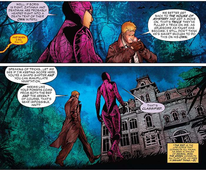Extrait du comics Justice League Dark