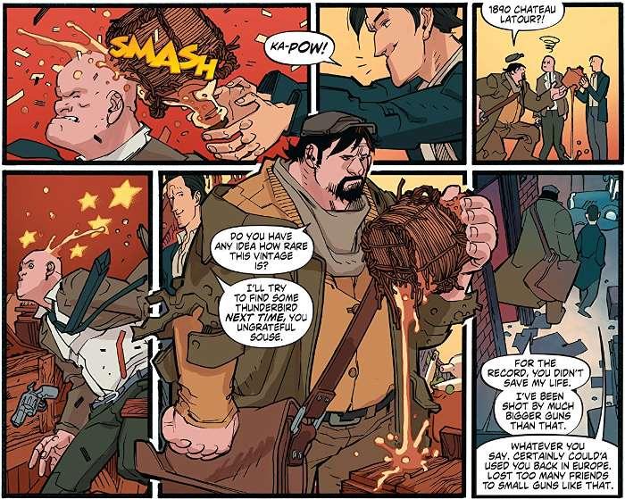 Extrait du comics « A&A : Les Aventures de Archer et Armstrong »