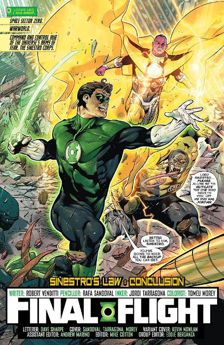 Extrait du comics Green Lantern Rebirth tome 1