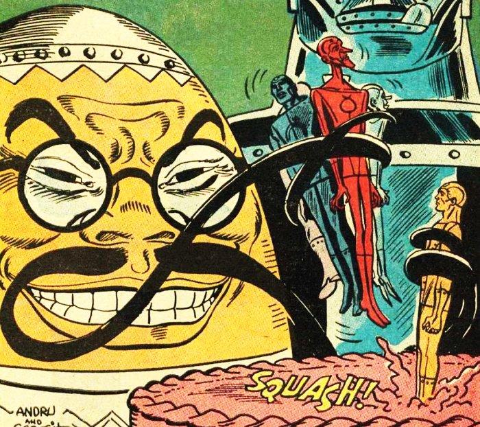 personnages de comics en forme d'oeuf Dr Yes
