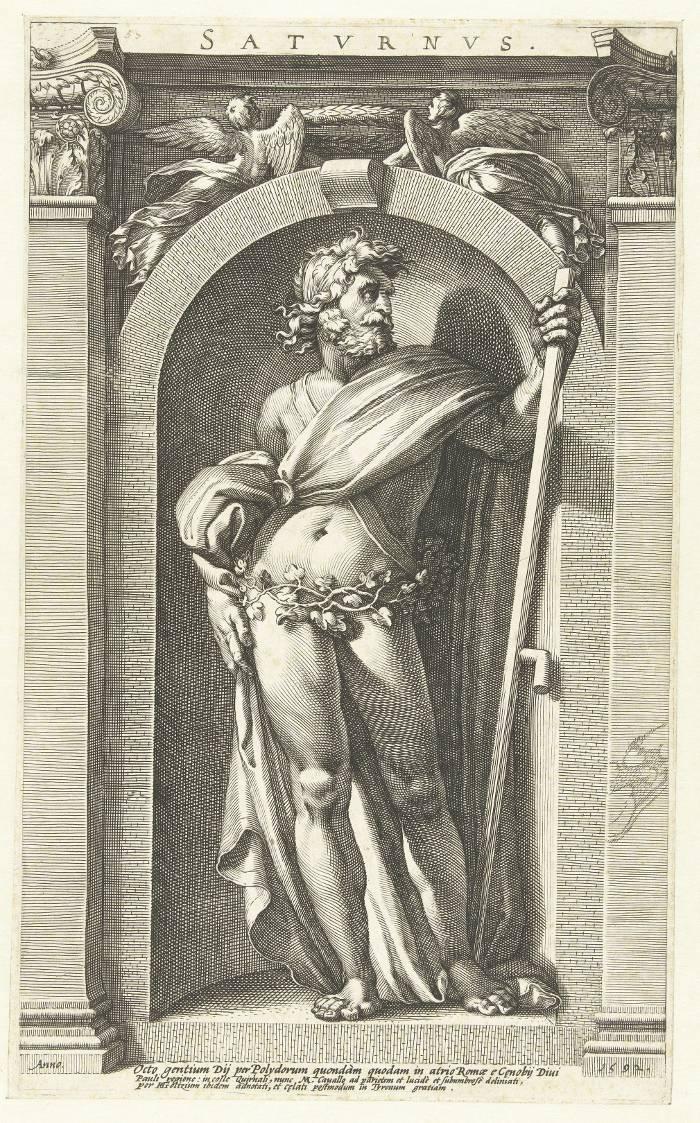 Saturne par Polidoro da Caravaggio au XVIe siècle