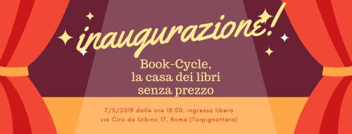 inaugurazione bookcycle 7 maggio 2019
