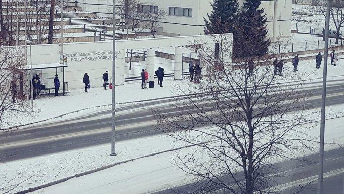 フィンランド人の行列
