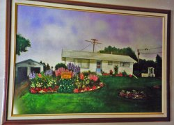 Painting of George & Eunices Home and Gardens