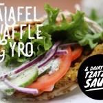 Falafel Waffle Gyro Greek Food Dairy Free Tzatziki Sauce